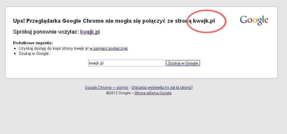 Nie działa kilka dużych polskich serwisów
