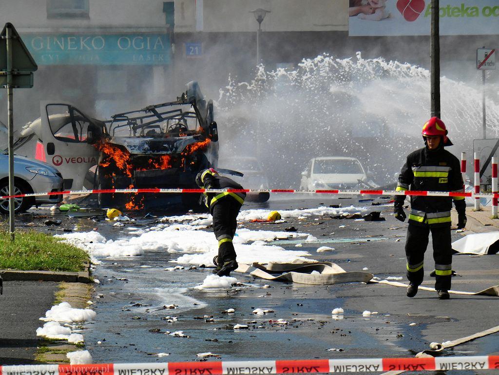 Wybuch samochodu z butlami z gazem na Bemowie