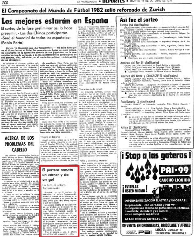 La Vanguardia o Tomaszewskim