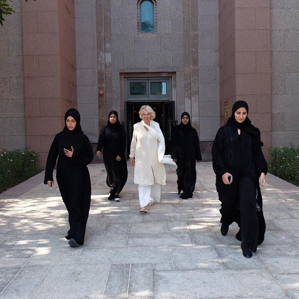 Księżna Camila w towarzystwie swoich ochroniarek