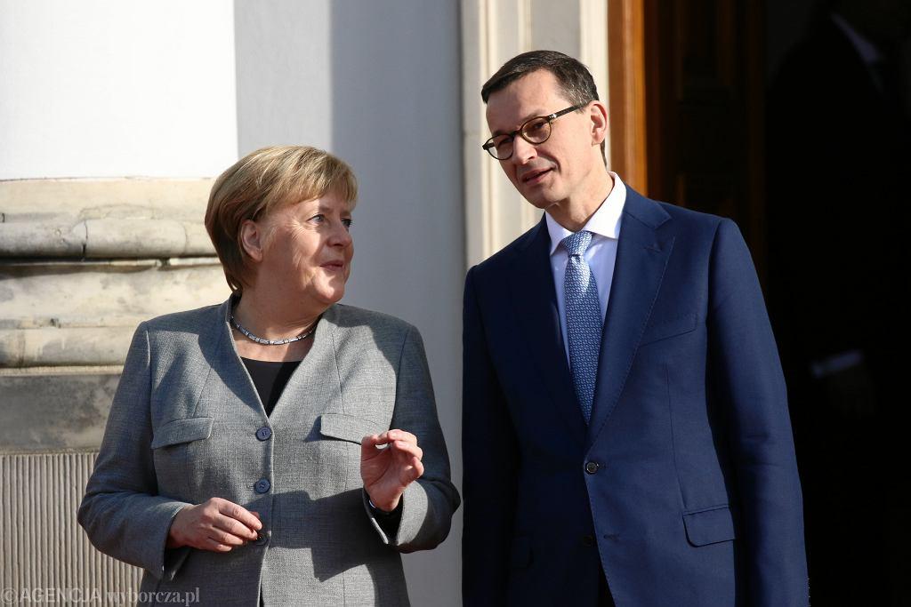Angela Merkel w Warszawie