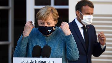 Emmanuel Macron zaprosił Angelę Merkel na rozmowy w swojej letniej rezydencji w Forcie Brégançon nad Morzem Śródziemnym. Francja,20 sierpnia 2020