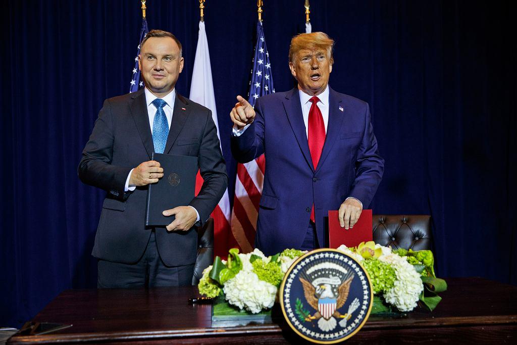 Spotkanie prezydentów Polski i USA w Nowym Jorku, 23 września 2019.