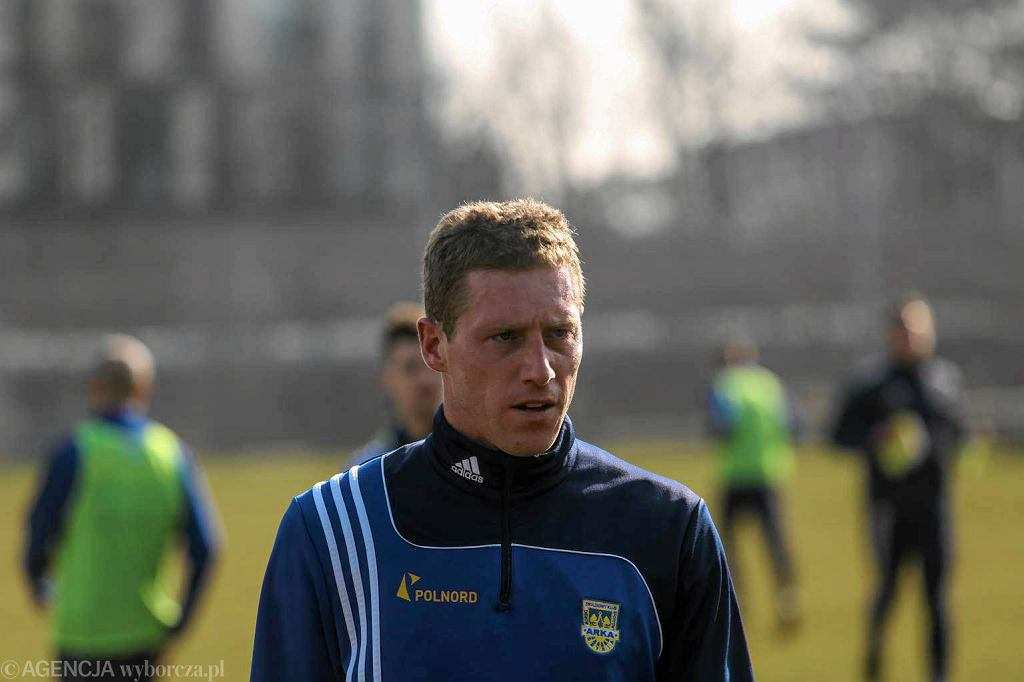 Bartosz Ślusarski na treningu Arki Gdynia
