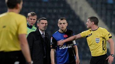 Michał Masłowski w meczu z Legią