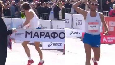 Nieodpowiedni gest Jurija Czeczunowa po zwycięstwie w moskiewskim maratonie