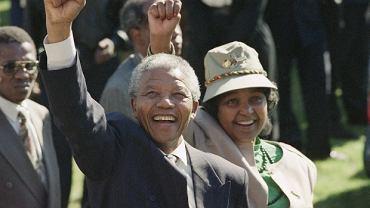 Nelson Mandela i Winnie Mandela w 1991 r.