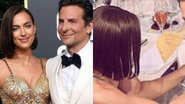 Irina Shyak i Bradley Cooper na gali rozdania Złotych Globów
