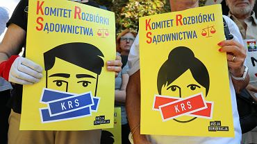 20 września 2018 r. Protest przed siedzibą Krajowej Rady Sądownictwa