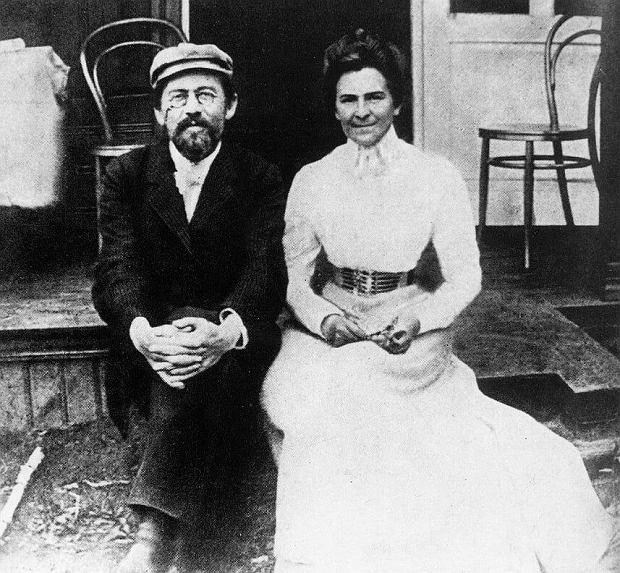 Anton z Olgą w podróży poślubej, Aksionowo 1901 rok / Fot. Wikimedia Comons/domena publiczna