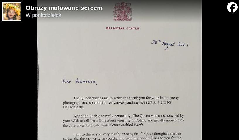 Wanessa nie spodziewała się odpowiedzi od królowej