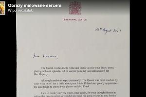 """12-letnia Polka wysłała obraz królowej Elżbiecie II. Nie spodziewała się odpowiedzi. """"Królowa zachowała się po królewsku"""""""