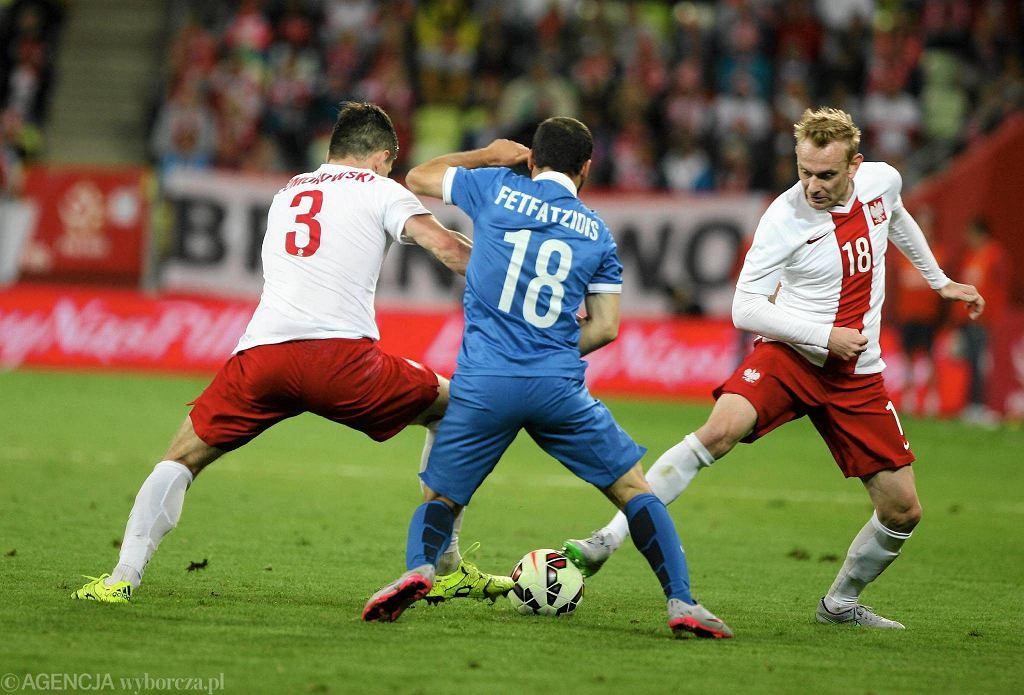 Polska - Grecja 0:0 na PGE Arenie Gdańsk. Na zdjęciu - Sebastian Mila