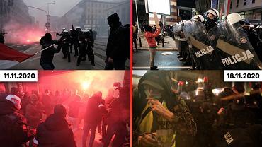 Porównanie demonstracji z 18.11 i z Marszu Niepodległości