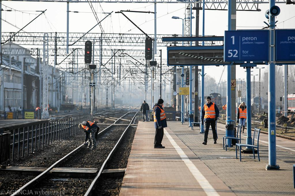Testowy przejazd remontowaną linią kolejową Lublin - Warszawa