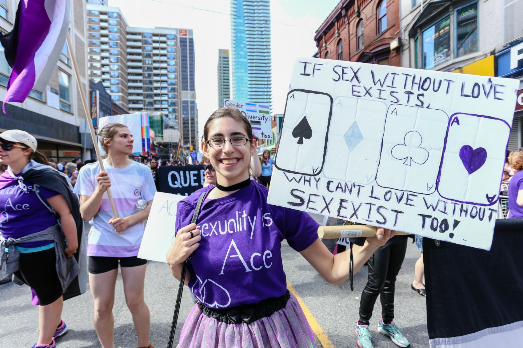 Marsz osób aseksualnych w Toronto, w Kanadzie (fot: Shutterstock.com)