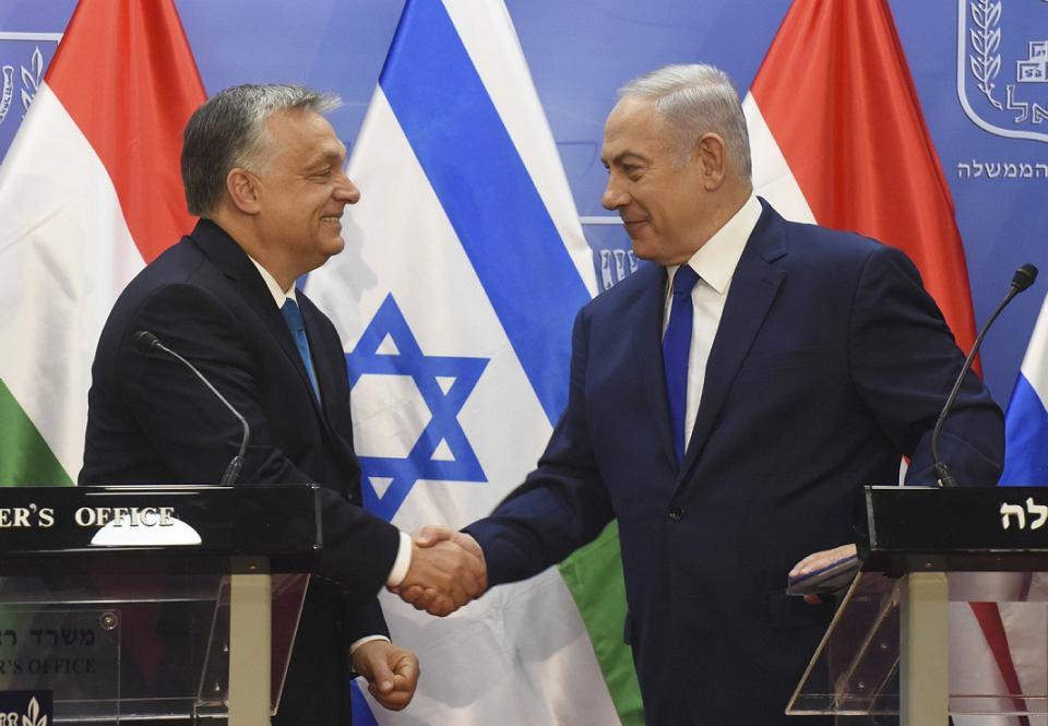 Orban i Netanjahu podczas wizyty premiera Węgier w Jerozolimie w lipcu 2018