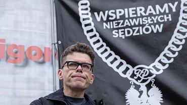 Demonstracja wsparcia dla sędziego Igora Tuleyi pod Sądem Najwyższym, Warszawa 09.06.2020