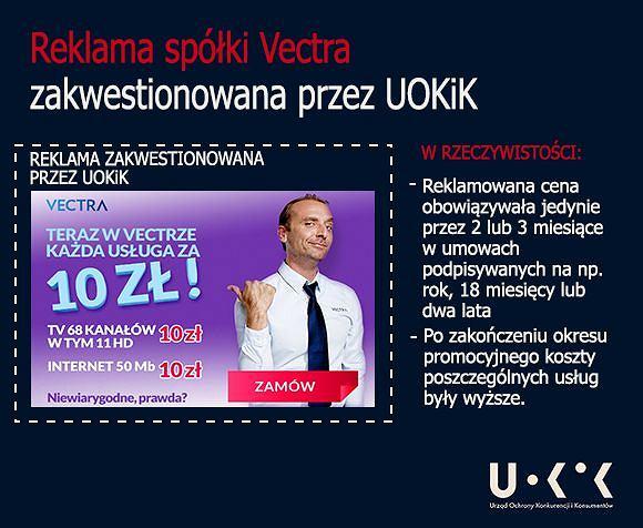 Reklama Vectry zakwestionowana przez UOKIK