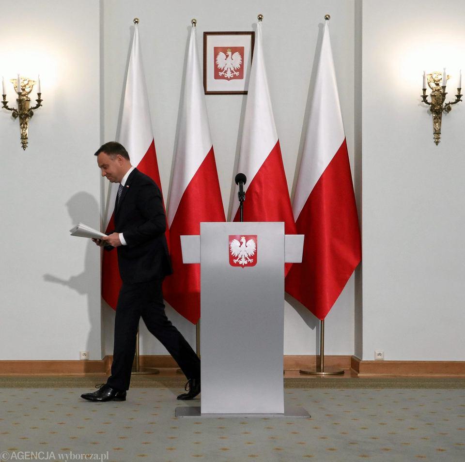 Oświadczenie prezydenta Andrzeja Dudy ws. reformy sądownictwa.