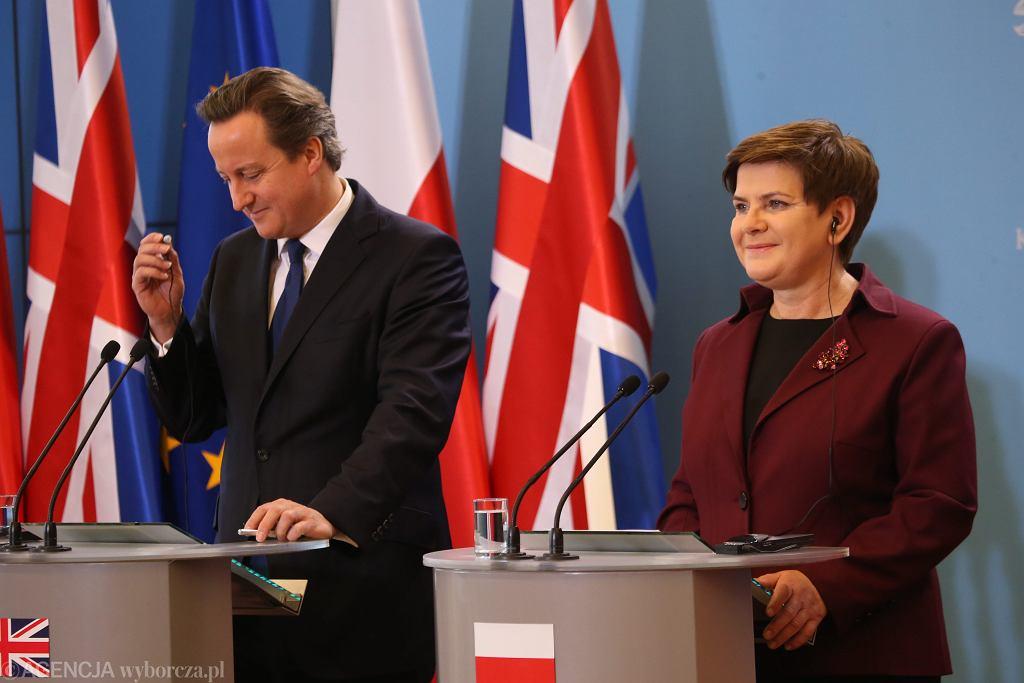 Premier Anglii z wizytą w Polsce