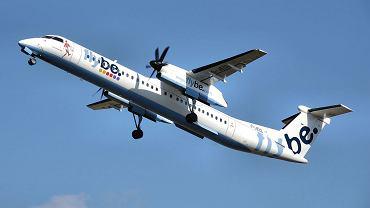 Bombardier Dash-8 należący do linii lotniczych Flybe