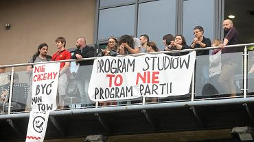 Protest w Łodzi przeciwko reformie Jarosława Gowina