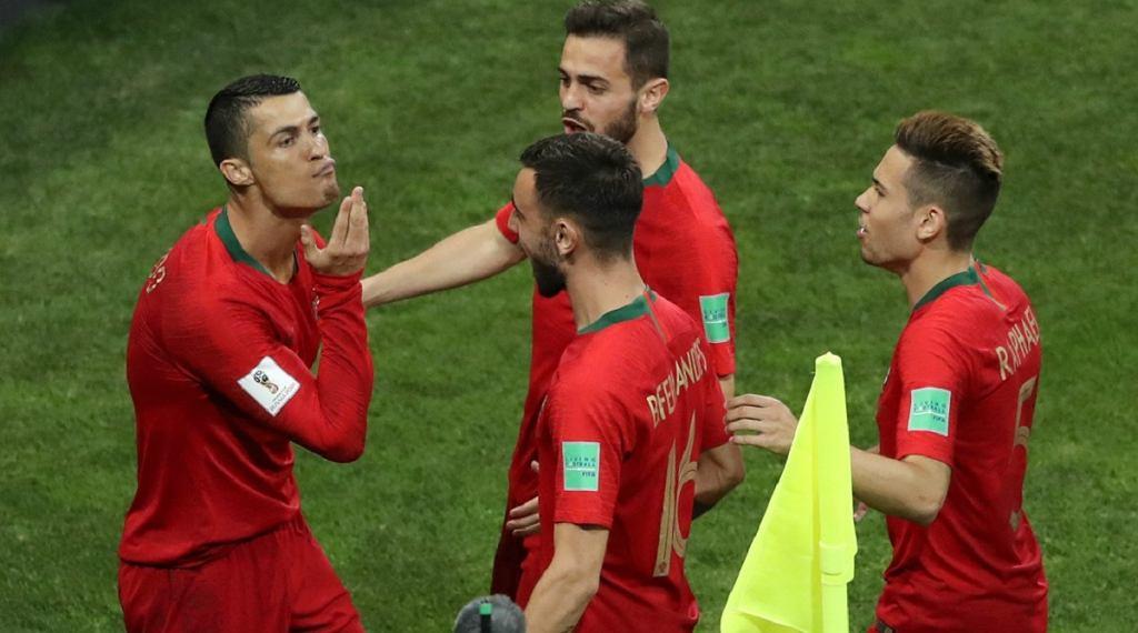 Nietypowa cieszynka Cristiano Ronaldo