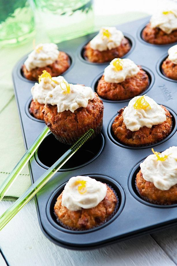 Muffiny kardamonowo-marchewkowe