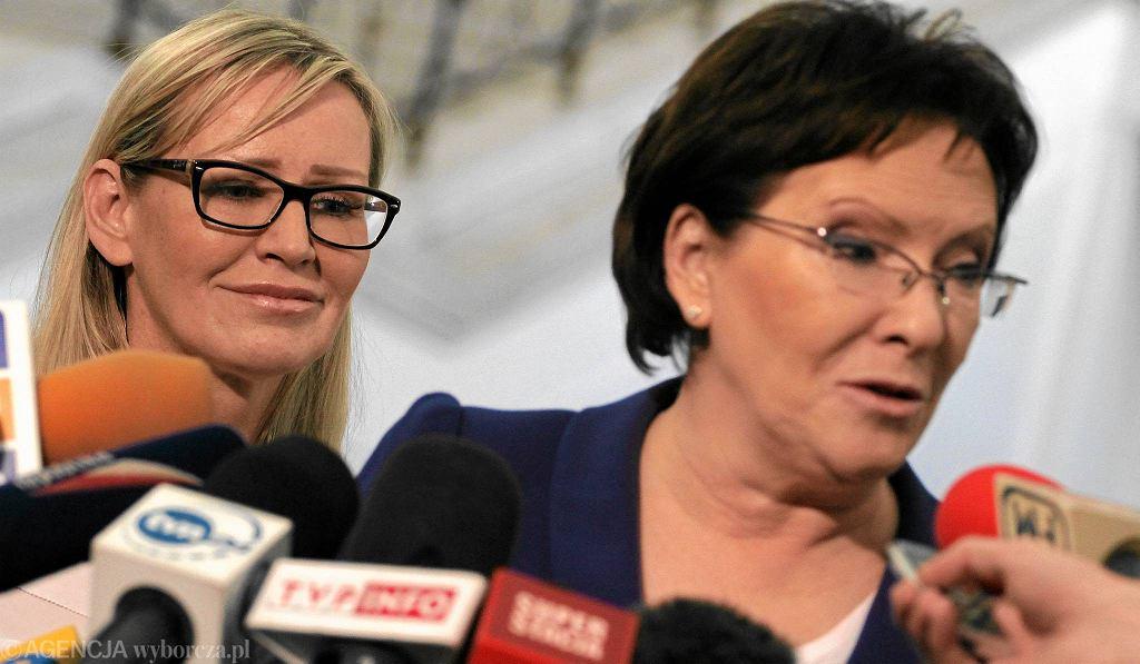 B. rzecznik rządu Iwona Sulik i premier Ewa Kopacz