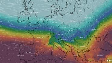 Różnice ciśnienia atmosferycznego w Europie w poniedziałek 10 lutego.