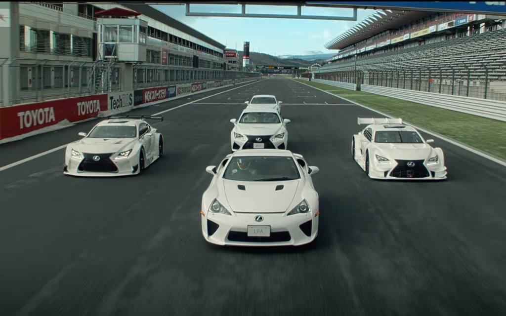 Balet Lexusów na torze Fuji Speedway