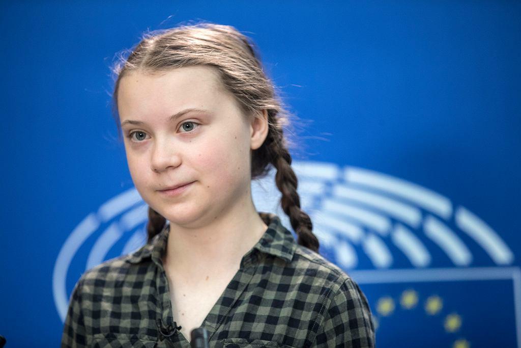Greta Thunberg z wizytą w Parlamencie Europejskim