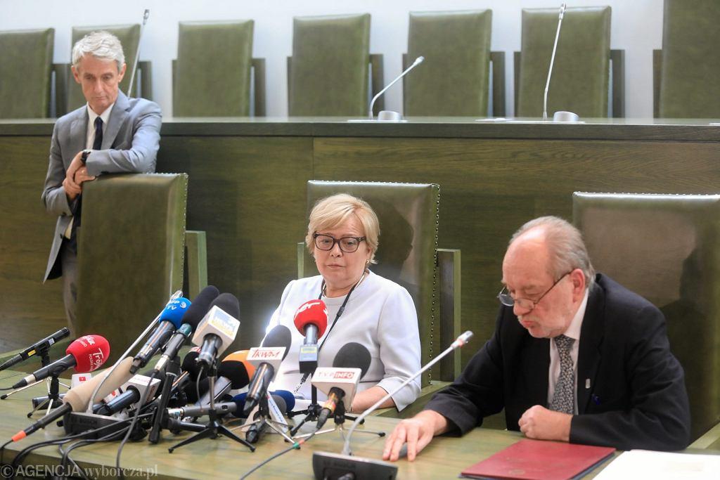 Konferencja prasowa pierwszej prezes SN Malgorzaty Gersdorf