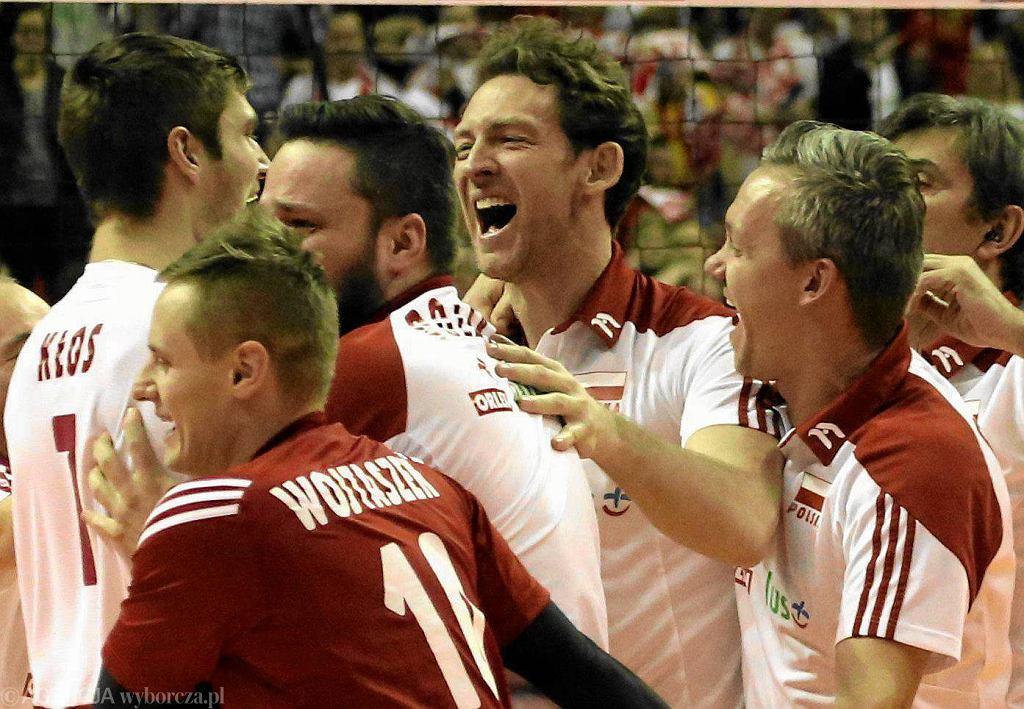 Antiga podczas radosci po meczu o trzecie miejsce Polska - Niemcy