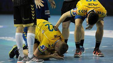 Alex Dujszebajew i Kulesz podczas meczu PGE Vive Kielce - THW Kiel
