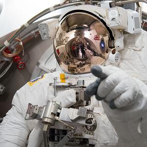 Luca Parmitano in EMU spacesuit