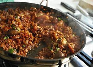 Curry z soczewicy z krewetkami