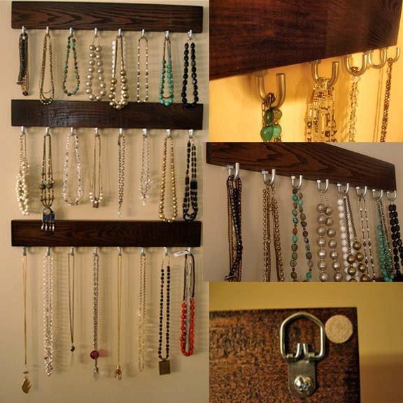 Wieszak na biżuterię, organizacja szafy