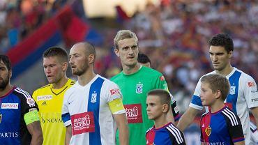 FC Basel - Lech Poznań 1:0 w III rundzie eliminacji do Ligi Mistrzów. Matias Delgado, Tomas Vaclik, Łukasz Trałka, Jasmin Burić, Marcin Kamiński