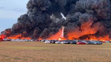 Pożar samochodów na Florydzie
