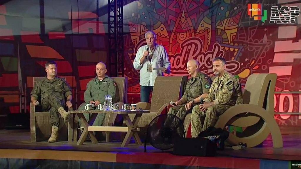 Generał Różański na Pol'and'rock mówił m.in. o stanie polskiej armii