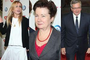 Prezydent Komorowski, Monika Olejnik i Hanna Gronkiewicz-Waltz