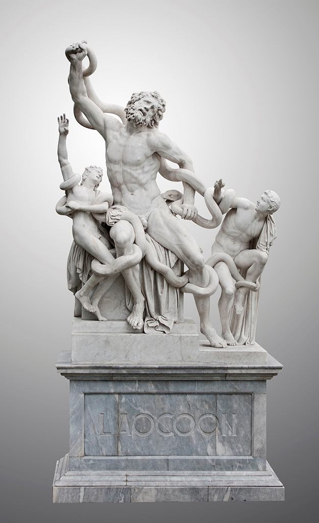 Statue of Laocoon and his Sons, also called the Laocoon Group, is a monumental marble sculpture. Statue in municipal park of Odessa.