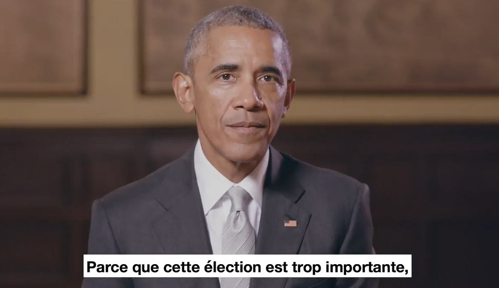 Barack Obama w nagraniu poparł Emmanuela Macrona