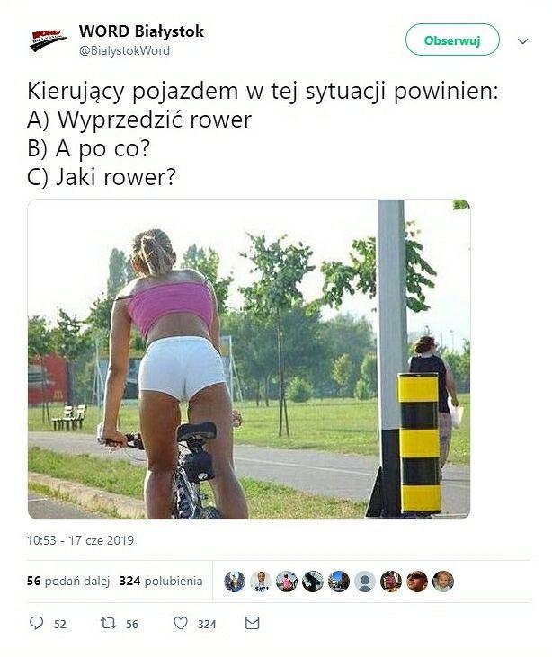 Seksistowski żart na Twitterze WORD Białystok