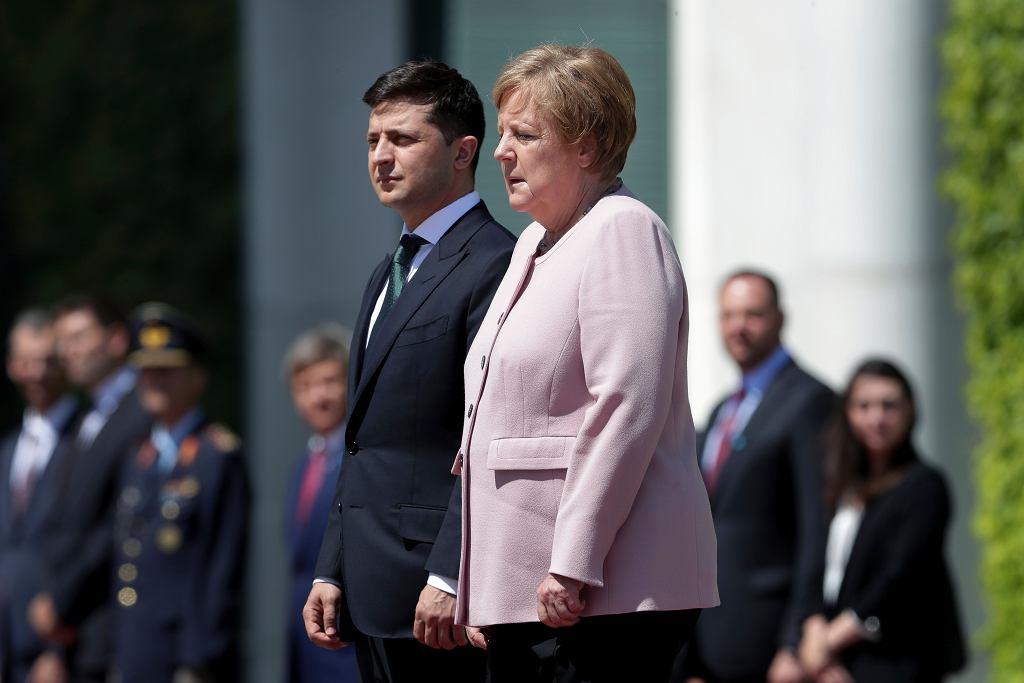 Spotkanie Angeli Merkel z Wołodymyren Zełenskim. Kanclerz dostała drgawek