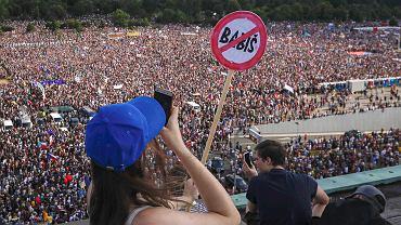 Czechy. Protest w Pradze