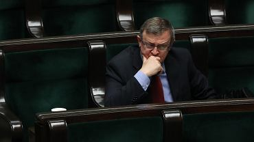 Poseł Solidarnej Polski Tadeusz Cymański w Sejmie