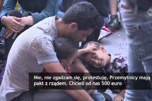 """""""Jestesmy tylko przejazdem, nie chcemy tu zamieszkać"""". Uchodźcy koczują w Budapeszcie"""